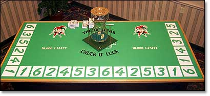 Chuck-O-Luck Table
